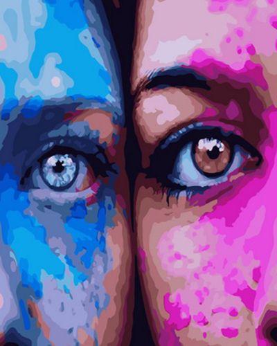 Картина по номерам 40x50 Две прекрасных и таких разных девушки
