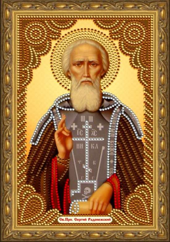 Алмазная мозаика 20x30 Святой преподобный Сергий Радонежский