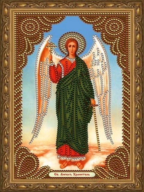 Алмазная мозаика 20x30 Икона Ангела Хранителя